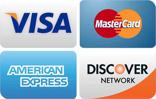 visa, discover, master card, american express cards